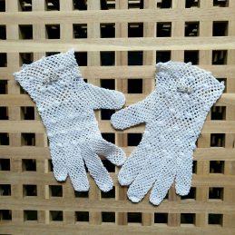 """Дамски ръкавици """"Романтика в бяло"""""""