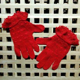 """Дамски ръкавици """"Elegant"""" с пръсти, червени"""