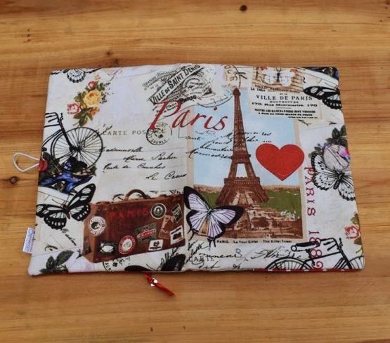 подвързия за книга разходка в Париж ръчна изработка в разгънато положение отвън