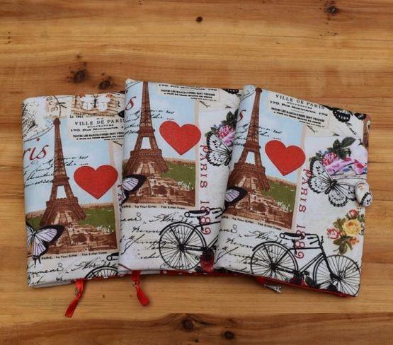 подвързия за книга разходка в Париж - за различни книги, ръчна изработка