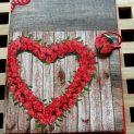 Сърце от цветя ръчно изработена подвързия