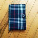 луксозна подвързия за книга синьо в бордо