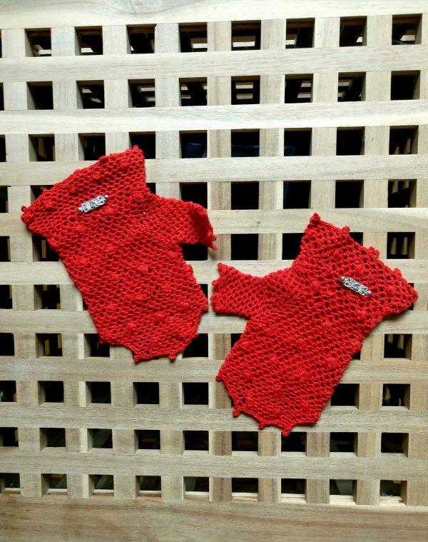 Дамски ръкавици в червен цвт - елегантни