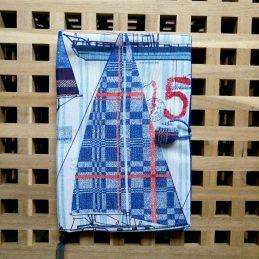 """Подвързия за книга """"Платноходки"""" от текстил, за всички разери стнадартни книги"""