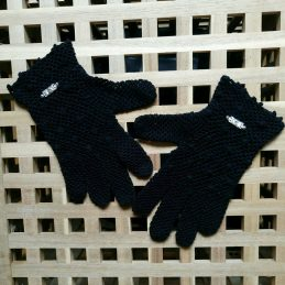 """Дамски ръкавици """"Романтиика в черно"""""""