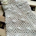 """Дантелени ръкавици на една кука """"Pregata"""" с пръти, бели 1 с копченце"""