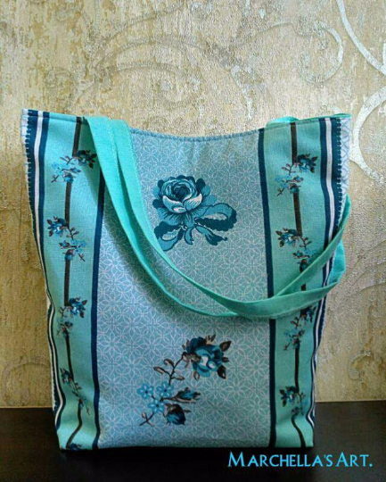 """дамска чанта """"Сини цветя"""""""