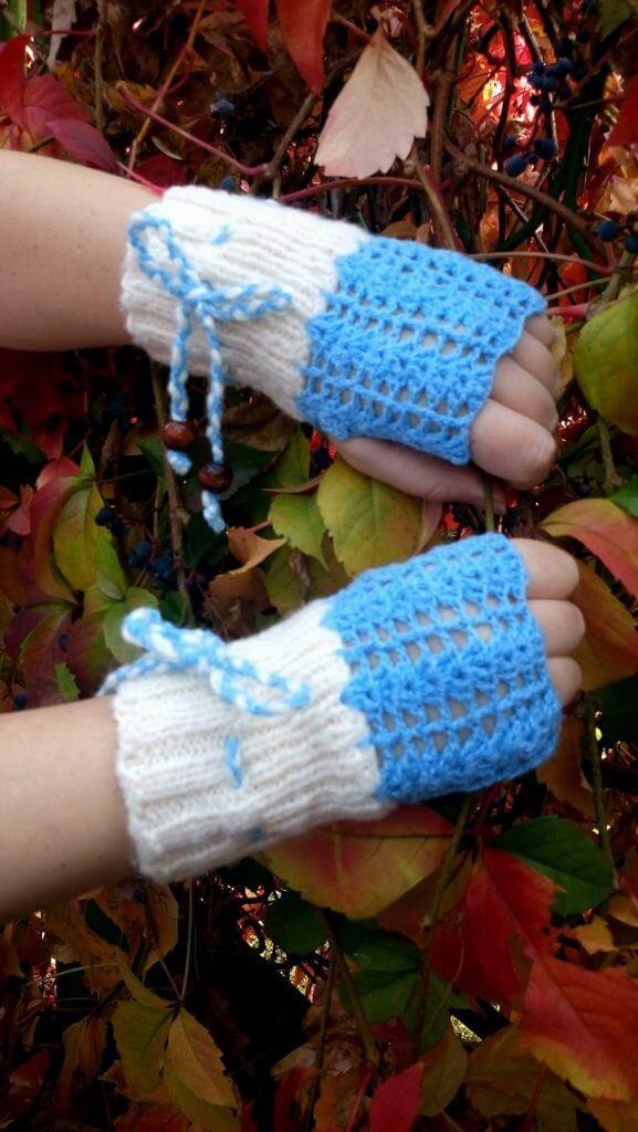 """ръкавици ръчна изработка """"Сняг"""""""