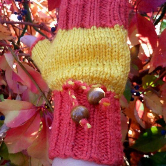 """ръкавици без пръсти """"Тиква"""" - Marchella's Art"""