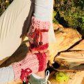 розовки плетени ръкавици без пръсти