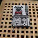 подвързия за книга с изображение на куче порода булдог