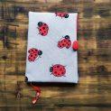 подвързия за книга от текстил с калинки