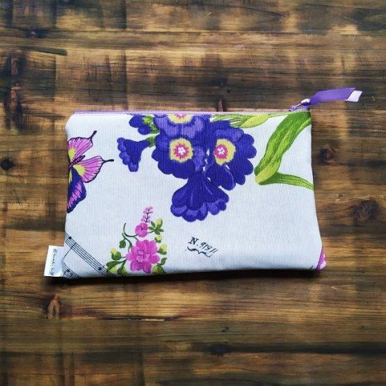 несесер за дамаска чанта с колибри и цветя